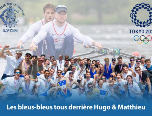 Les Bleus-Bleus tous derrière Hugo & Matthieu!