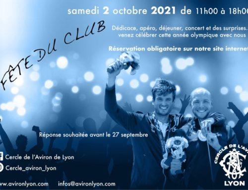 Fête du Club et des Champions Olympiques : samedi 2 octobre!